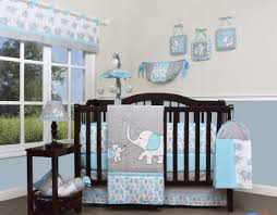 Nursery Bed Set Geenny Blizzard Elephant 13 Crib Bedding Set Reviews Wayfair