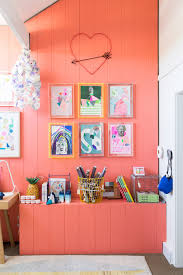 pop of vibrant peach color from the design files trend pastel