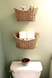 Bathroom Wicker Shelves by Storages Basket Storage Instead Of Shelves For A Small Bathroom