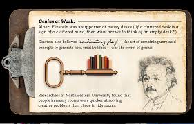 Cluttered Desk Albert Einstein Famous Desks Of The Rich U0026 Genius Motion Infographic National Pen