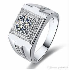 diamond man rings images 2018 1 ct classic design male jewelry sterling silver synthetic jpg