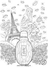 Le Journal Du Parfum Coloriage Parfum Parisienne Yves Saint Laurent I