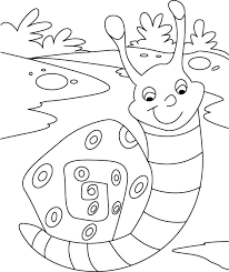 pretty cute snail coloring pages download free pretty cute snail