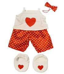 teddy clothes satin heart pj s with heart slippers teddy clothes