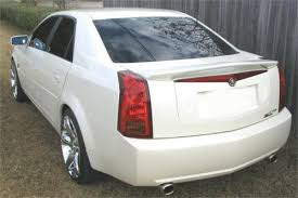 2007 cadillac cts review 2003 2007 cadillac cts sedan factory style rear wing spoiler