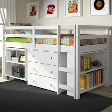 kids white bookcase donco kids low study loft hayneedle