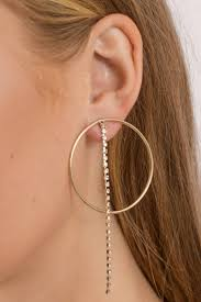 hoop earrings clarissa gold rhinestone hoop earrings 10 tobi us