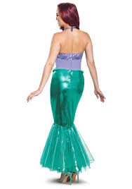mermaid halloween costume for adults disney little mermaid ariel deluxe costume for women
