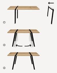 pied pour bureau plateau chambre enfant table tréteaux ikea plateau de table et bureau