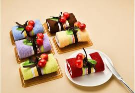 creative swiss roll cake towel 20 20cm mini towel wedding birthday