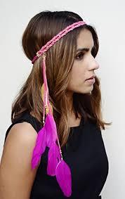 feather headbands feather headband american indian tribal headdress pink
