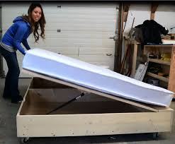 How To Build A Queen Size Platform Bed With Storage by Ana White Queen Size Lift Storage Bed Diy Projects