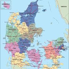 Country Maps Denmark Political Map Illustrator Vector Eps Maps Eps