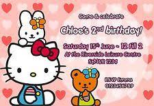 hello kitty invitations celebrations u0026 occasions ebay