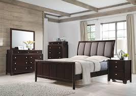 madison bedroom set 6 piece bedroom set in dark merlot finish by coaster 204881