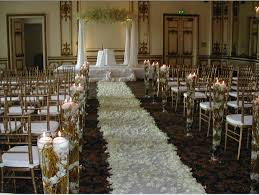wedding ceremony decoration ideas church wedding decorations on pew and aisle the home