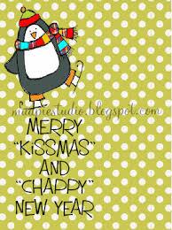 merry kissmas and chappy new year christmas gift digital tag