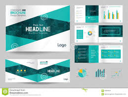 business brochure design template and page layout for company