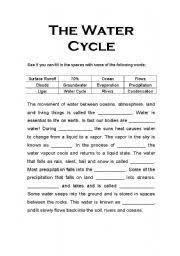 Water Cycle Worksheet Pdf Worksheets The Water Cycle