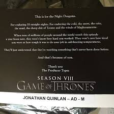 syuting adegan pertempuran klimaks game of thrones season 8 telah