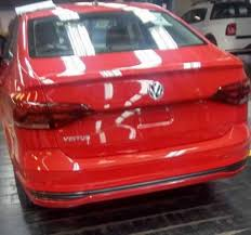volkswagen sedan 2018 new photos clearly reveal the rear of the vw virtus 2018 vw polo