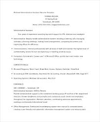 Executive Assistant Resume Template 10 Administrative Assistant Resumes Free Sample Example