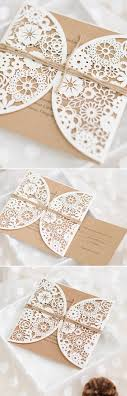 laser cut wedding programs top 10 fall wedding invitations for autumn weddings laser cut