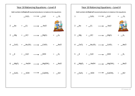 balancing equations level 4 by mattcox800 teaching resources tes