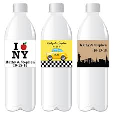 Nyc Wedding Favors by New York Personalized Water Bottle Label 12 Pcs New York