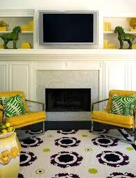 Yellow Fireplace Fireplaces Bijou Kaleidoscope