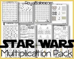 star wars multiplication printables for hands on math royal baloo
