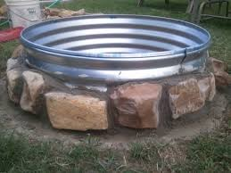 Firepit Ring Galvanized Pit Ring Pit Ideas