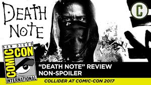 death note death note review non spoilers collider at sdcc 2017 youtube