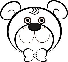 teddy bear head outline free download clip art free clip art