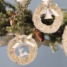 bottle brush wreath ornament by bethany lowe