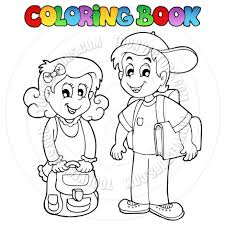 cartoon coloring book kids by clairev toon vectors eps 38313