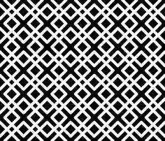 black and white fabric pattern navy blue moroccan fabric by jenniferstuartdesign on spoonflower
