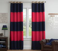 blackout curtain navy red