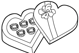 chocolate for valentine coloring pages valentine coloring pages