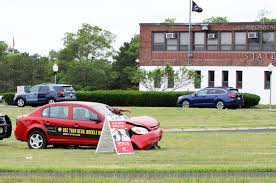 wrecked car highlights dangers of not buckling up bourne news