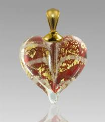 cremation pendants gold heart glass cremation pendant