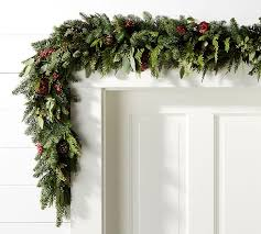 garland for mantle pottery barn