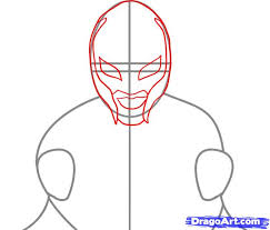draw rey mysterio step by step drawing sheets added by dawn