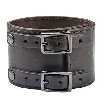 buckle leather bracelet images Cuff leather bracelets in premium leather by sixc nomad of sweden jpg