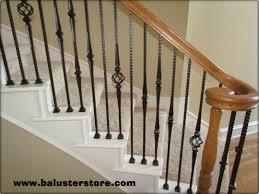 Stair Banister Parts High Quality Powder Coated Iron Stair Parts Ironman1821