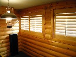 knotty pine shutters cabin plantation shutters pinterest