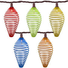multi color metal spiral tear drop strin lights 10 lights