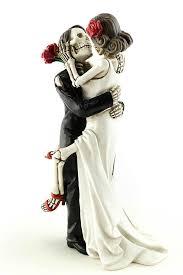 skeleton wedding cake toppers day of the dead skulls wedding cake topper silhouette lasered