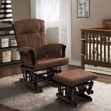 nursery chair and ottoman awesome teak varnished nursery rocking glider chair ottoman of stork
