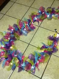 Ribbon Decoration Pinterest Homemade Garland Tie Polly Mesh Ribbon Bows Around A Strand Of